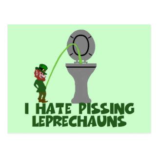 I hate Leprechauns Postcard
