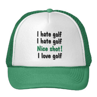 I Hate - Love Golf Hat