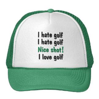 I Hate - Love Golf Cap