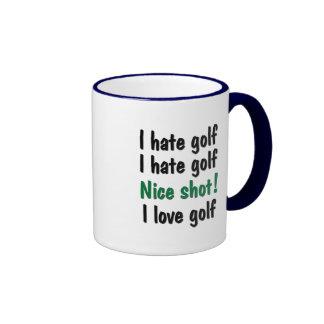 I Hate - Love Golf Coffee Mugs
