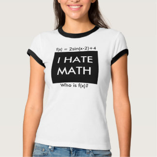 I Hate Math Tee Shirts