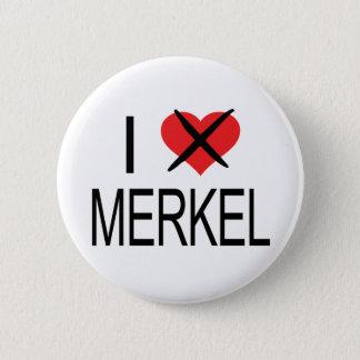 I HATE Merkel 6 Cm Round Badge