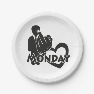 I hate Monday! Paper Plate