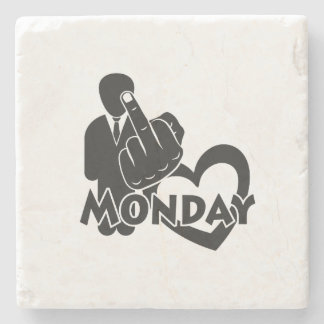I hate Monday! Stone Coaster