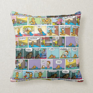 """I Hate Mondays"" Garfield Comic Strips Pillow"