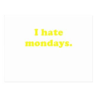 I Hate Mondays Postcards