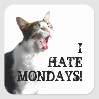I Hate Mondays Square Sticker