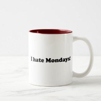 I Hate Mondays Two-Tone Mug