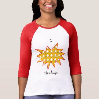 """I """"Hate"""" Mondays with Upset Emojis T-Shirt"""