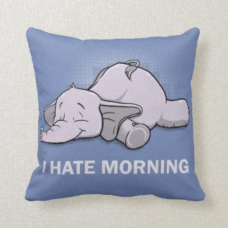 I Hate Morning Cushion