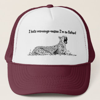 I hate mornings Safari Cap