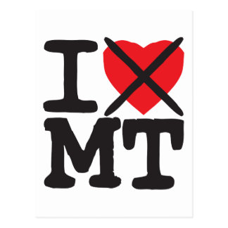 I Hate MT - Montana Postcards