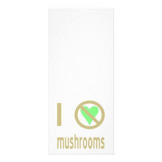 I Hate Mushrooms Personalized Rack Card