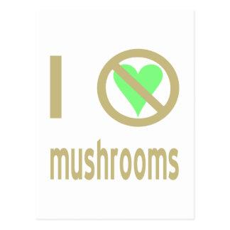 I Hate Mushrooms Postcards