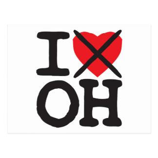 I Hate OH - Ohio Postcard