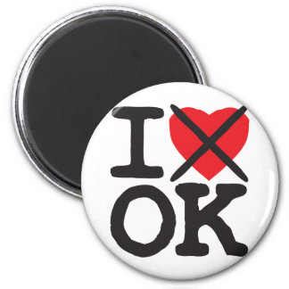 I Hate OK - Oklahoma 6 Cm Round Magnet