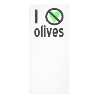 I Hate Olives Black Full Color Rack Card