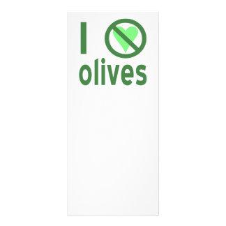 I Hate Olives (Green) Custom Rack Card