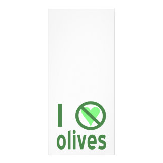 I Hate Olives (Green) Customized Rack Card