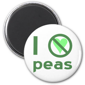 I Hate Peas 6 Cm Round Magnet
