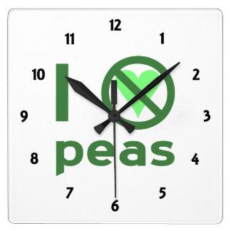 I Hate Peas Clocks