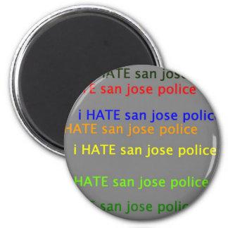 i hate saj  dpsan jose police 6 cm round magnet