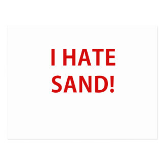 I Hate Sand Postcards