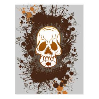 I hate skull postcard