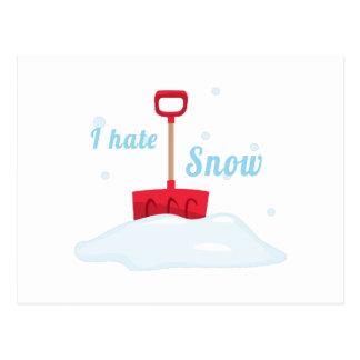 I Hate Snow Postcard