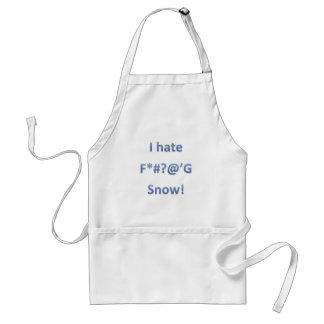 I Hate Snow Style 1 Standard Apron