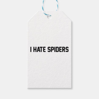 I Hate Spiders Gift Tags