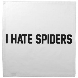 I Hate Spiders Napkin