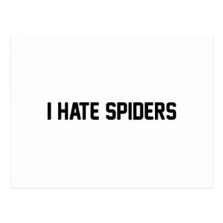 I Hate Spiders Postcard