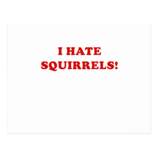 I Hate Squirrels Post Card