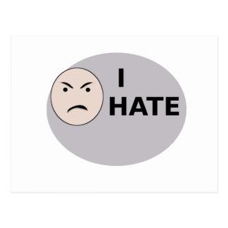 I Hate ... - Template Postcard