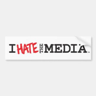 I Hate the Media (red hate) Bumper Sticker