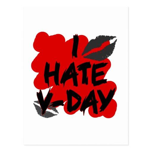 I hate vday postcard