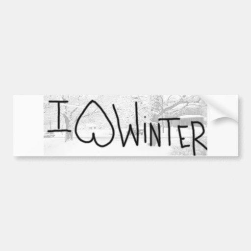 I hate winter bumper sticker