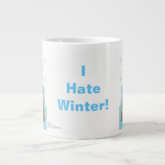 I Hate Winter by Evaw Nomis Large Coffee Mug