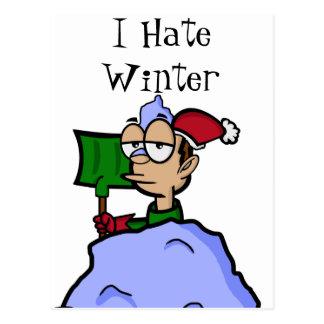 I Hate Winter Postcard