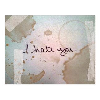 i hate you post card