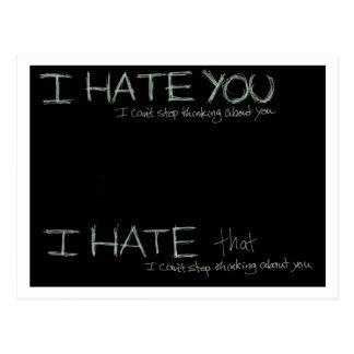 I Hate You... Postcard
