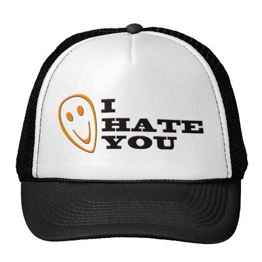 I Hate You Smiley Mesh Hats
