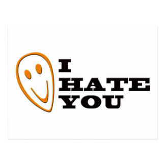 I Hate You Smiley Postcard