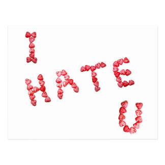 I Hate You - Written In Hearts Postcard