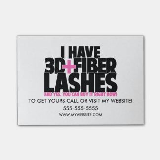 I have 3d + Fibre Lashes Post-it® Notes