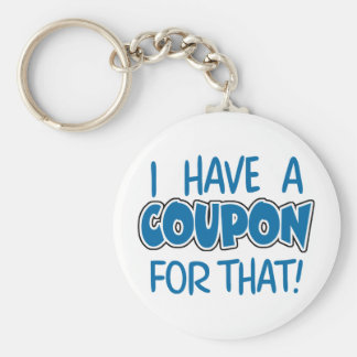 I have a coupon for that! basic round button key ring