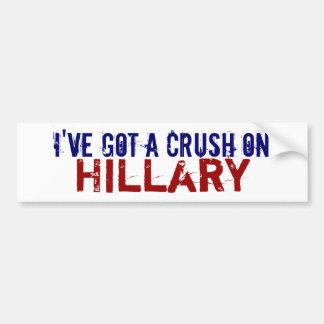 I Have a Crush on Hillary Bumper Sticker