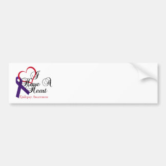 I Have A Heart Epilepsy Awareness Bumper Sticker