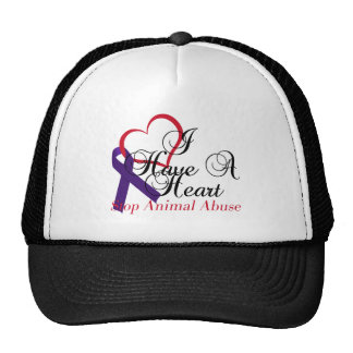 I Have A Heart Stop Animal Abuse Cap